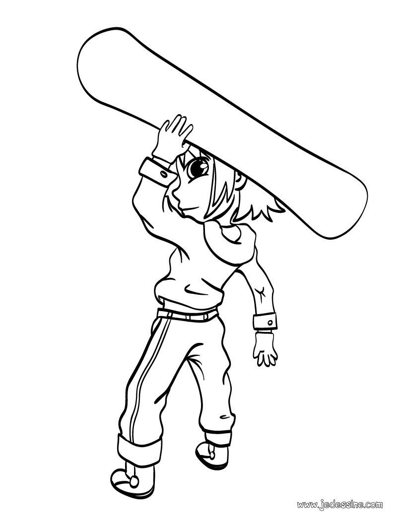Coloriage de Mat et son surf