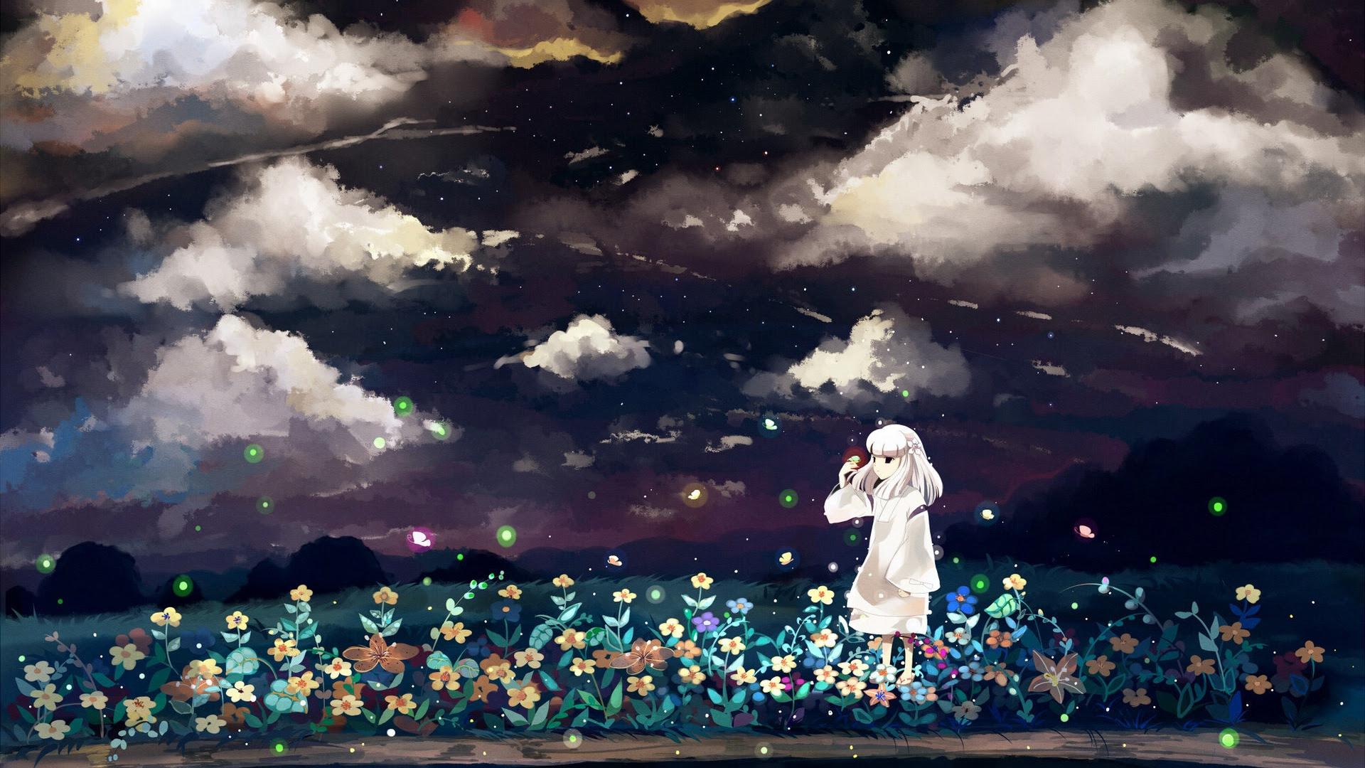 ホタル夏美しいアニメ壁紙 9 1920x1080 壁紙ダウンロード ホタル