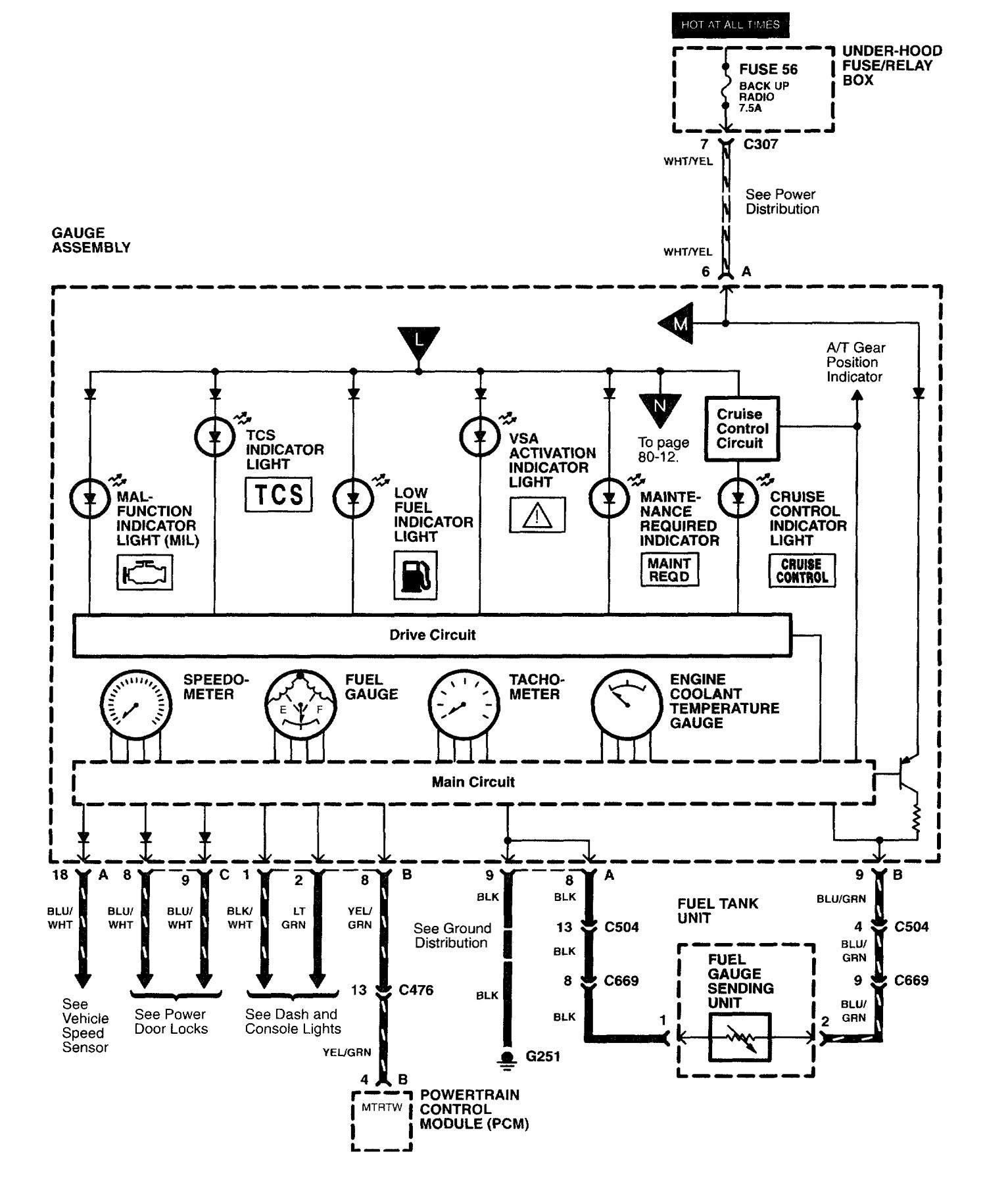 Car Wiring Diagram Legend