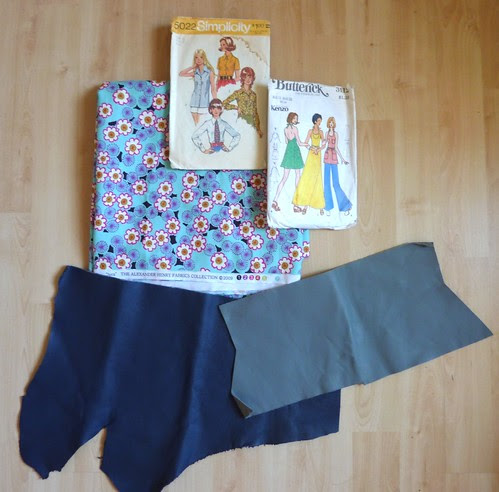 01 - Swap Items, Cotton Fabric, Leather Offcuts, Patterns