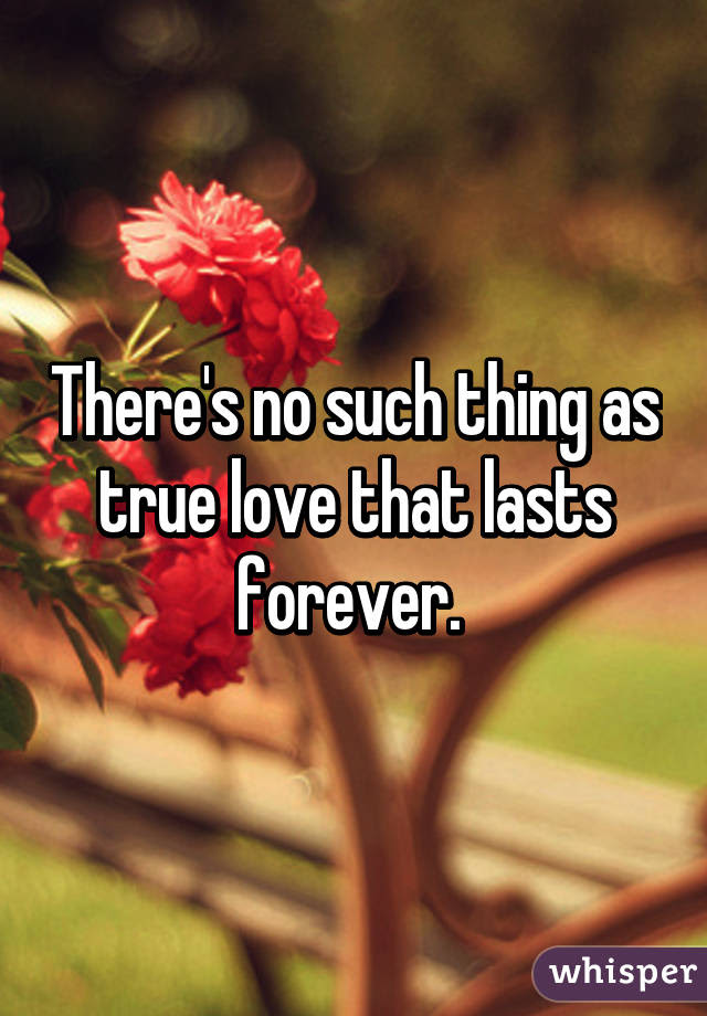 Theres No Such Thing As True Love That Lasts Forever