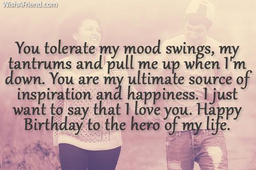 You Tolerate My Mood Swings My Birthday Wish For Boyfriend