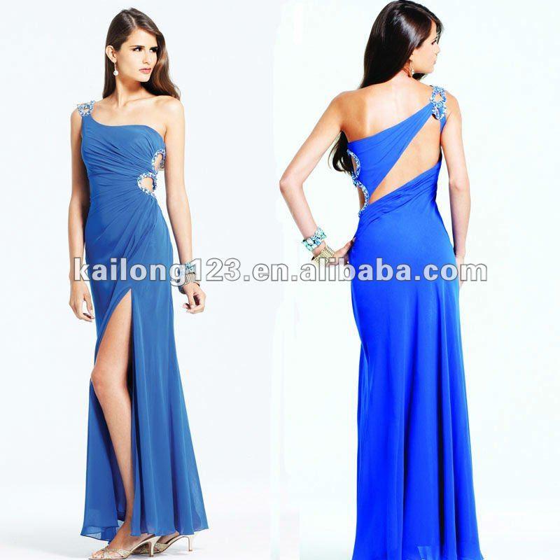 Long blue evening dress