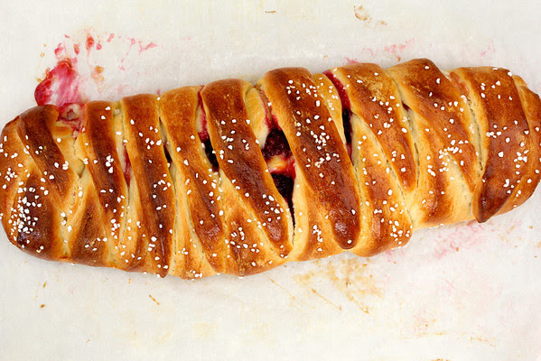 Braided Lemon Bread with Blackberries