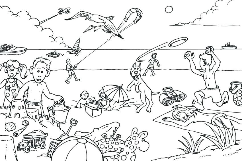 Summer Vacation Coloring Pages at GetColorings.com | Free ...
