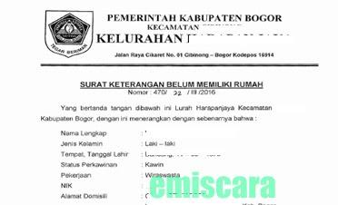 Contoh Surat Keterangan Penghasilan Orang Tua Dari Kelurahan Contoh Seputar Surat