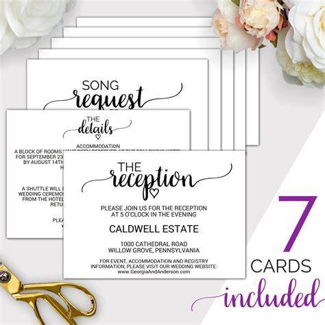 7 Printable Wedding Enclosure Cards: Wedding Details Card