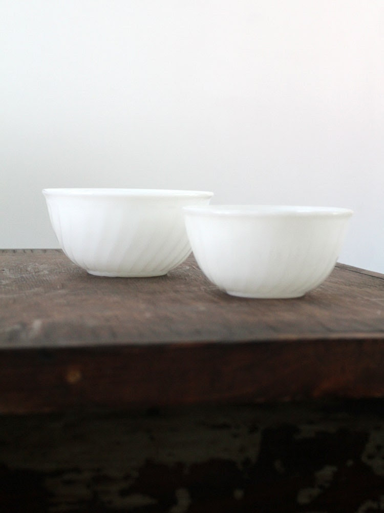Fire King Milk Glass Mixing Bowls - 86home