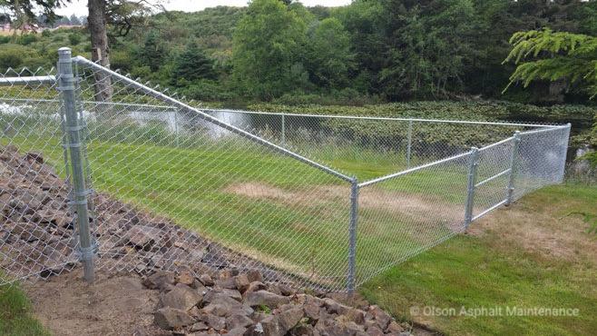 Fencing Olson Asphalt Maintenance Company
