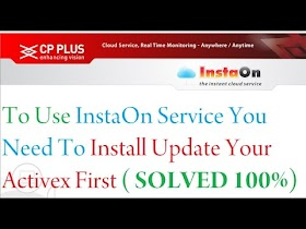 To Use InstaOn Service You Need To Install Update Your Activex First