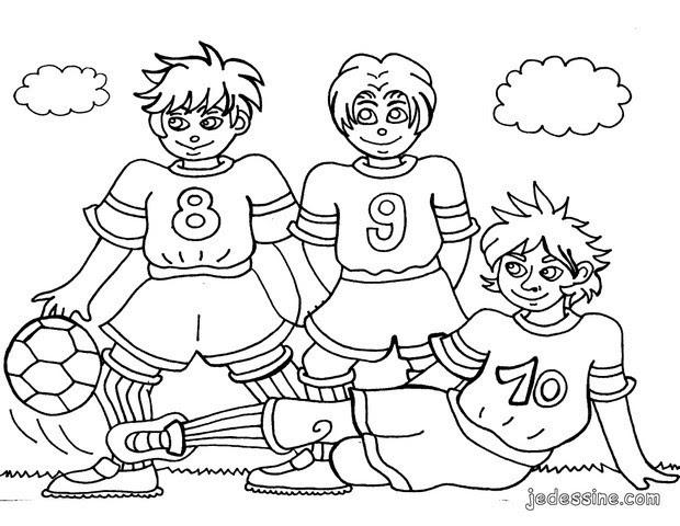 Coloriages Coloriage De Joueurs De Football Frhellokidscom