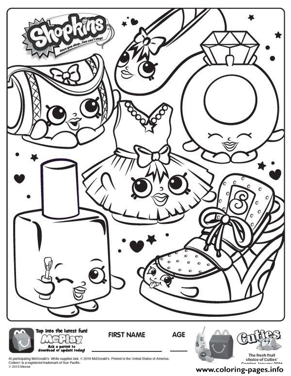 Free Shopkins Coloring Pages To Print