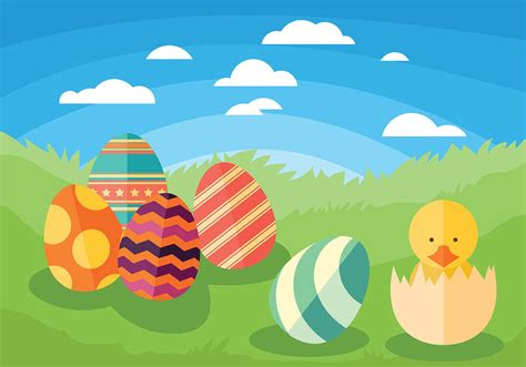 easter chick vector background   vector art