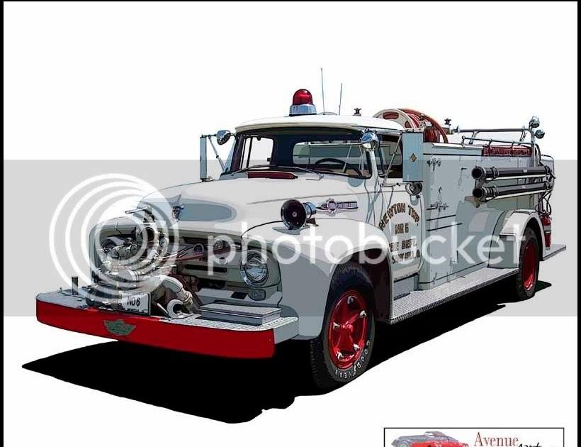 1956 Ford Fire Truck : Trucks ford f quot big job firetruck
