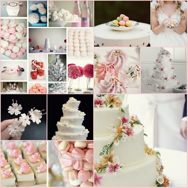 the wedding cakes inspiration macaroons meringues sugar flowers oh my