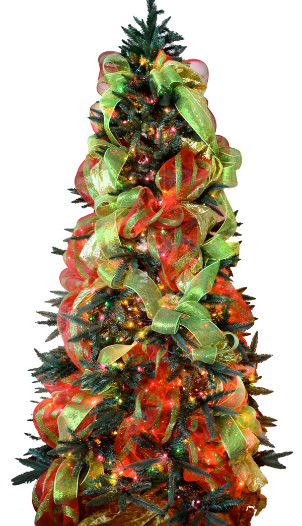 christmas tree decorations mesh decorating ideas - How To Decorate A Christmas Tree With Ribbon Video