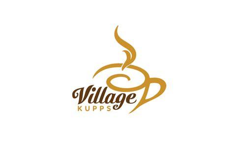 professional modern coffee shop logo design  village