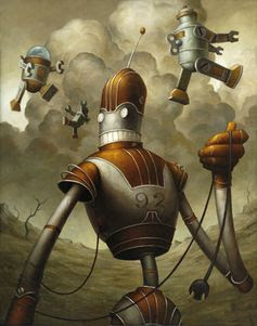 Brian Despain's Oil Robots | Ape on the Moon: Contemporary Visual Culture