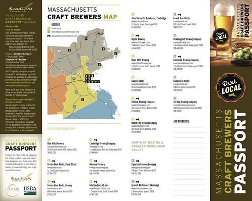 Massachusetts Brewery Passport by stevegarfield