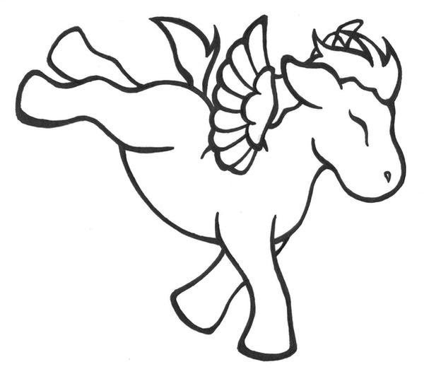 Flying Unicorn Coloring Pages For Kids