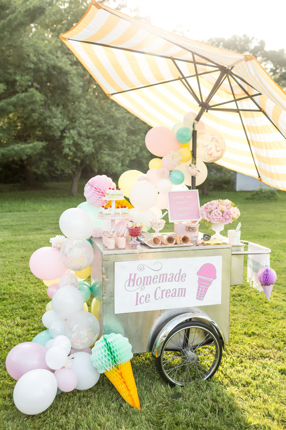 Pastel Summer Ice Cream Party