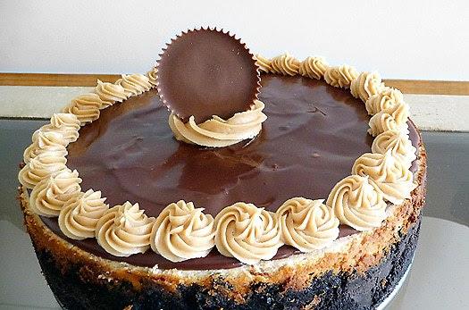 Peanut Butter-Fudge Cheesecake