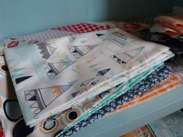 Indian Summer fabric--show me your stash