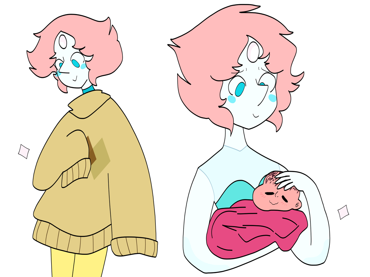 Some happy pearls. Drawing these made me feel better about things. for @deinopidae!