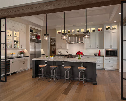 Gray Kitchen Island Home Design Ideas Pictures Remodel