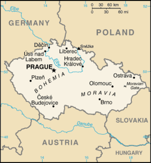 General map of the Czech Republic