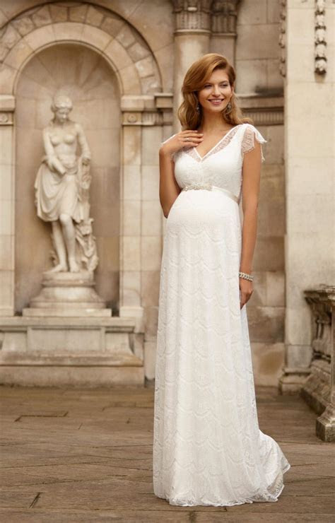 Kristin Maternity Wedding Gown Long Ivory   Maternity