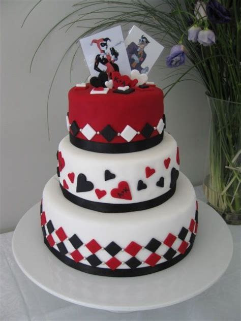 harley quinn and joker cake   wedding   Pinterest