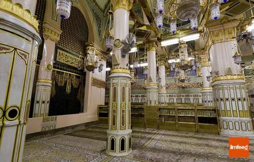 Pilar-pilar Bersejarah di Raudhah Masjid Nabawi  Cerita