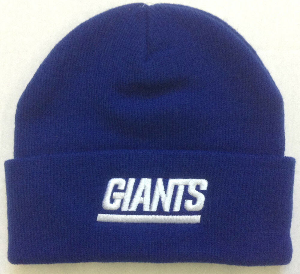 NWT NFL New York Giants Logo Athletic Kids Cuffed Winter Knit Hat Cap Beanie NEW eBay
