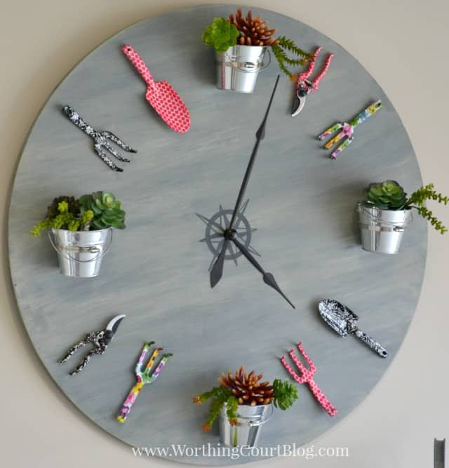 How to make a faux garden clock