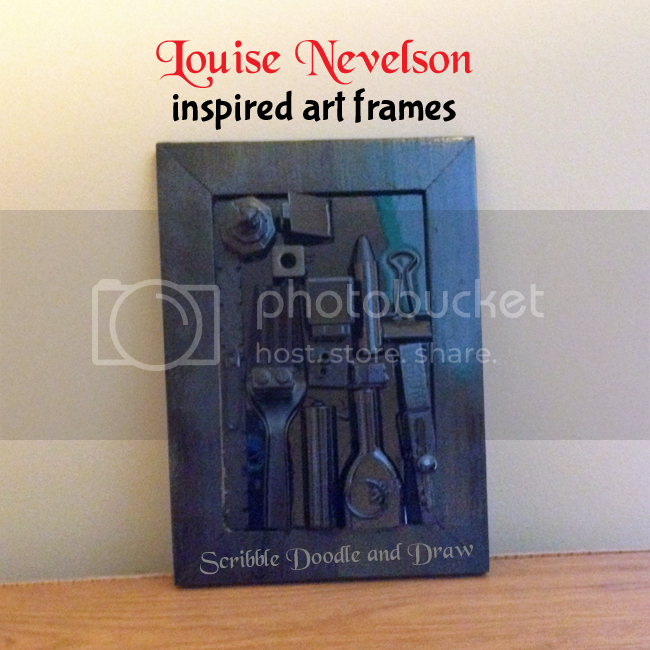 Louise Nevelson collage art for kids using found objects