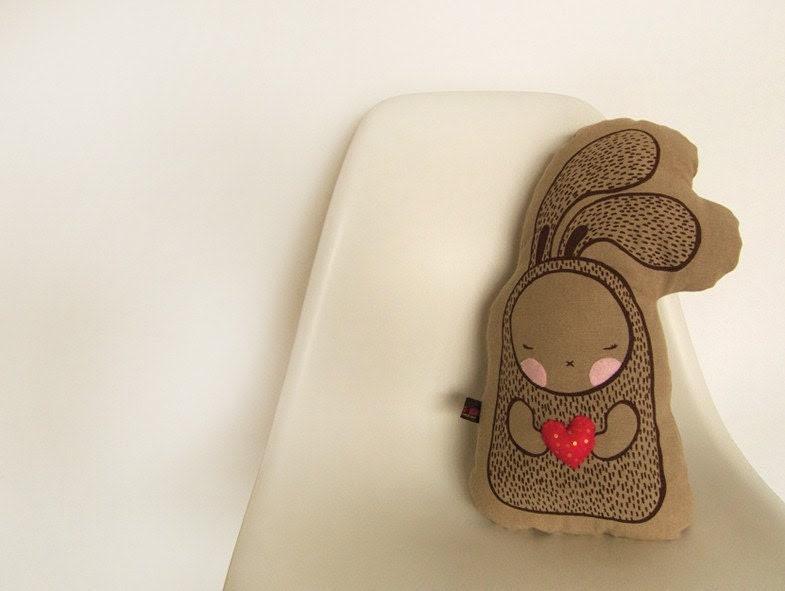 Heart Me Bunny - Cushion