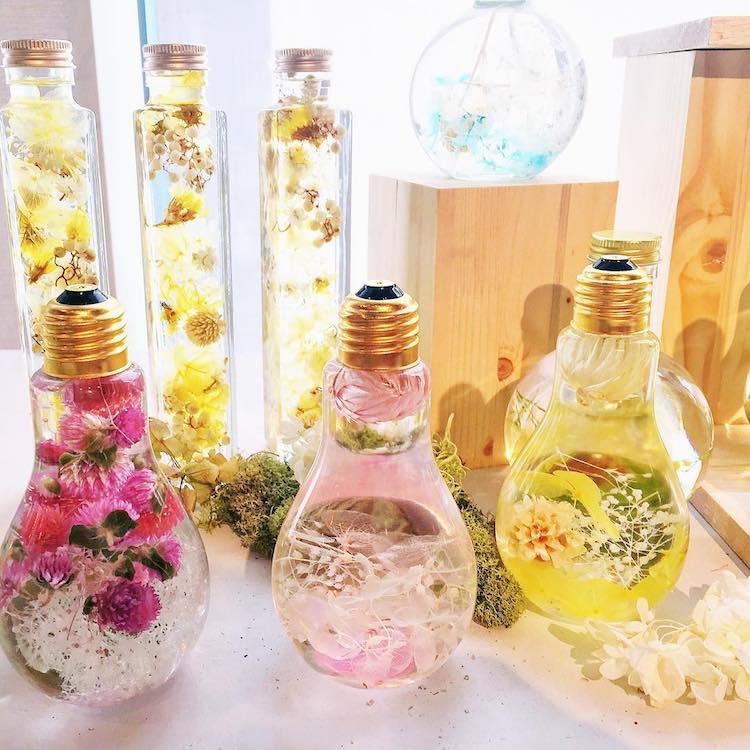 Ampoule frappant Lumière de fleur Vase Suspend Blooms délicats comme des bijoux