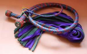 'The Joker' whip with matching flogger (available separately)