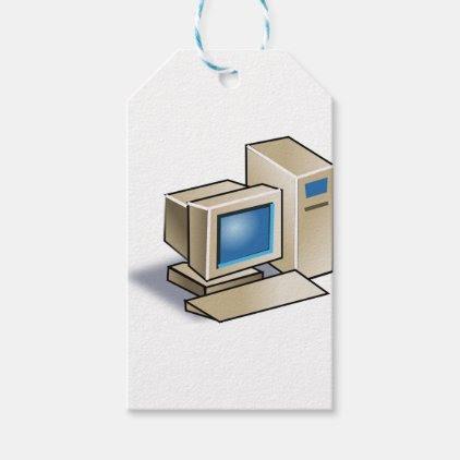 Retro Computer Gift Tags