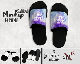 Download Dye Sublimation Sandals mockup template | Add your own ...