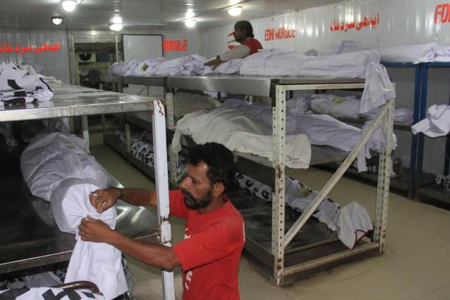 L'épisode de canicule frappant Karachi, mégalopole portuaire de... (Photo Imran Ali, Agence France-Presse)