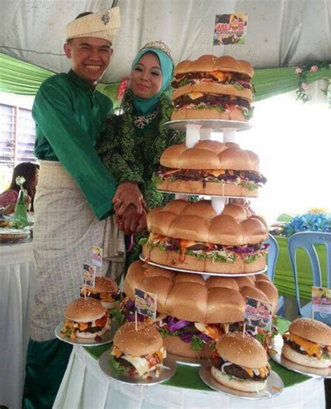 Wedding Burger 'Cake' is What True Love Looks Like