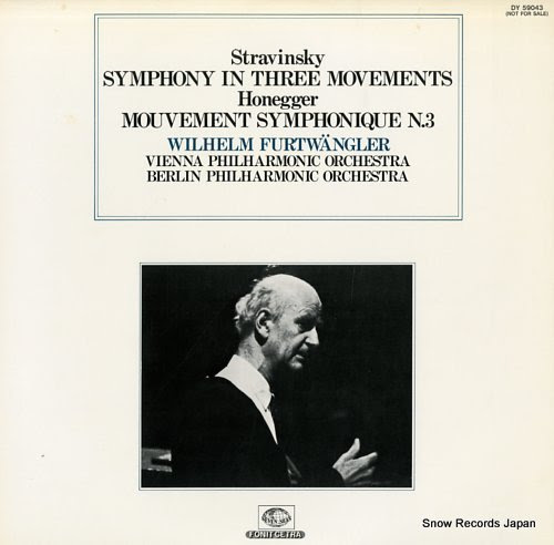 FURTWANGLER, WILHELM stravinsky: symphony in three movements
