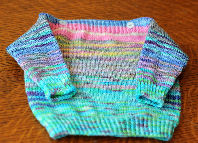 Watercolour Blank Canvas Baby Sweater