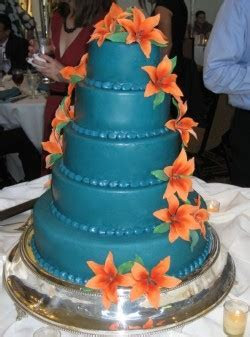 bright blue wedding cakes   A Wedding Cake Blog