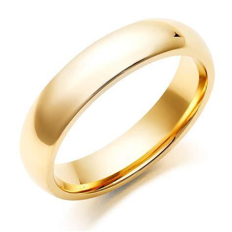 Men's 9ct Gold Court Wedding Ring   0004986   Beaverbrooks