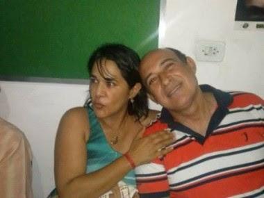 Luana Costa com o marido, Ribamar Alves: barracos e candidatura a deputada