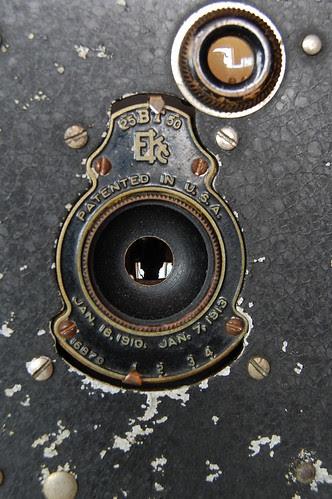 Vest Pocket Kodak Autographic shutter open