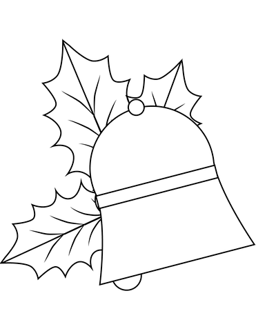 Dibujo De Campana De Navidad Para Colorear Dibujos Para Colorear